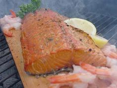 one of the most wonderful things about summer - cedar plank atlantic salmon on the BBQ - #indigo #perfectsummer