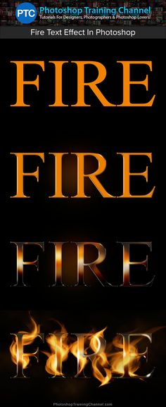 In this Photoshop text effects video tutorial, we're going to create a fire text effect, engulfing our text in burning hot flames.
