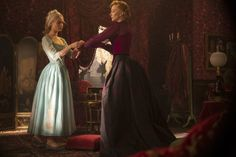 Still of Cate Blanchett and Lily James in Cinderella (2015) Love the hair style!!