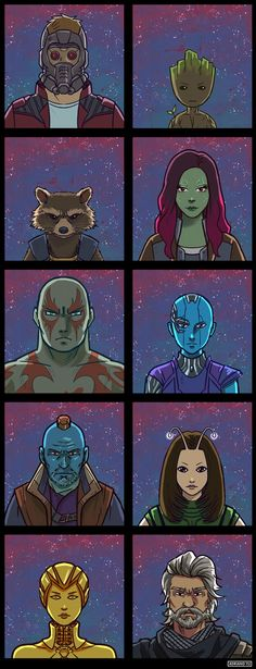 Guardians of the Galaxy - Universo Marvel Get inspired about marvel's superheroes in guardians of the galaxy and all kind of content about the characters rocket, gamora, groot, peter but also paintings and artwork about the movie. Marvel Memes, Marvel Dc Comics, Marvel Avengers, Marvel Logo, Marvel Funny, Gardians Of The Galaxy, Guardians Of The Galaxy Vol 2, Rocket Drawing, Galaxy Drawings