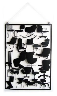 Miniature Designer Seating - The Laser-Cut Paper 'Chair' Series Features Classic 20th Century Design (GALLERY)