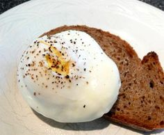 Microwave Poached Eggs from Food.com: I have been poaching eggs in the microwave for many years. For me this is the best way to prepare poached eggs for 2. It is quick, easy and almost foolproof. Please make sure you use a toothpick to pierce the yolk before cooking or it will explode!