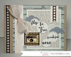 Fly and Be Free by @scrapaddict4lc for @therubbercafe using @bobunny #card #creativecafeKOTM