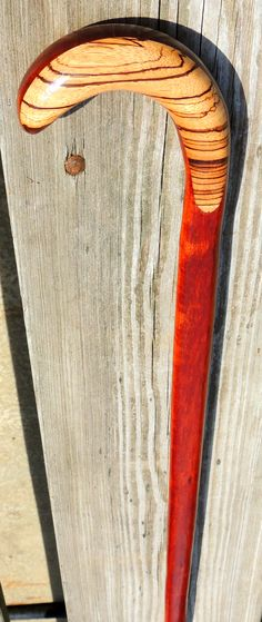 Zebrawood - Mahogany - Brazos Walking Sticks - (from the Mark Dwyer Collection)