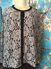✰} JOAN RIVERS #XL GRAY/BLACK #LACE LINED BUTTON DOWN LONG SLEEVE #TUNIC TOP/JACKET http://ebay.to/2gnrr2S
