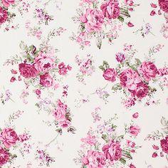 Cotton Flower Breda 3 - Bomull - rödviolett