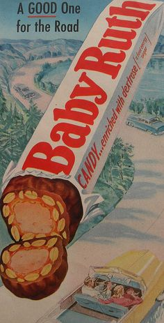 1940s BABY RUTH Candy Bar Vintage Illustration Advertisement by Christian…