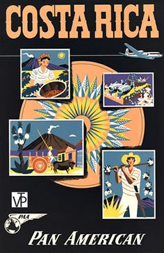 Costa Rica Pan Am.    Has anyone ever seen another copy of this original Costa Rica Pan American poster?