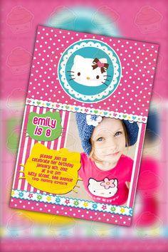 hello kitty invites Hello Kitty Theme Party, Hello Kitty Themes, Hello Kitty Birthday, Theme Ideas, Party Themes, Party Ideas, 13th Birthday, Birthday Ideas, Birthday Party Invitations