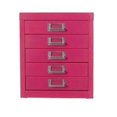 Spencer 5 Drawer Cabinet Pink