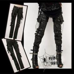 New Girls Goth Punk Visual Kei Rock Belt Trousers Pants s M L XL XXL Free SHIP | eBay