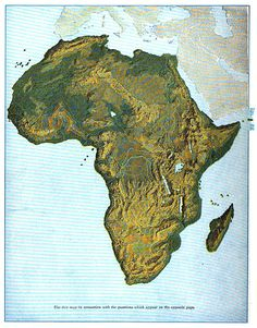 amapaday Topographic map of Africa. ➖ The average elevation of