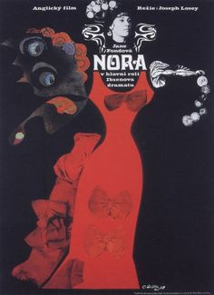 By Karel Teissig, 1 9 7 4, A Doll's House, film poster, Czechoslovakia.