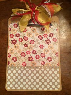 Fun item to make for back to school with teacher friends.