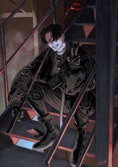 Dark Anime Guys, Cool Anime Guys, Manga Art, Anime Art, Mago Anime, Japon Illustration, Arte Sketchbook, Handsome Anime, Boy Art