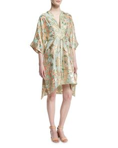 McKenna+Floral-Print+Belted+Dress+by+Tory+Burch+at+Neiman+Marcus.
