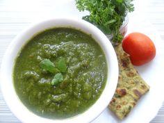 Coriander Tomato Chutney Recipe- Dhaniya Chutney- Sandwich Chutney