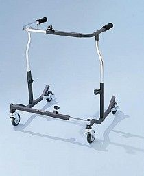 """The Bariatric Safety Rolling Walker is ideal for bariatric patients with limited hand function and/or limited cognizance. The Safety Rolling Walker is height adjustable in 1"""" increments. The walker has an adjustable brake spring tension. - See more at: http://wellseniorcare.com/item_787/Bariatric-Safety-Rolling-Walker-500-lb.-wt.-cap..htm#sthash.QKO0s5It.dpuf"""