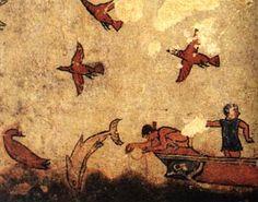 *** Pintura de la Tumba de la caza y de la pesca, Tarquinia. (h. 510 a. C).