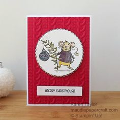 MaudiePapercraft: Stampin' Up! Merry Mice Christmas card with Cable ...