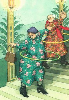 Hoelahoep - Inge Löök, Old Ladies - postzegelerop