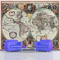 Vintage ancient world map 16 century decorating wallpaper mural art vintage ancient world map 16 century decorating wallpaper mural art 5 free delivery option to uk e travel decor pinterest mural art wallpaper murals gumiabroncs Choice Image