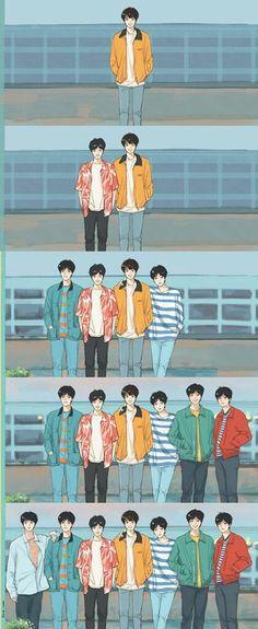 This is a fan art of BTS' Euphoria. Foto Bts, Bts Photo, Billboard Music Awards, Bts Taehyung, Bts Bangtan Boy, Jungkook Predebut, Bts Art, Bts Fan Art, Bts 2013