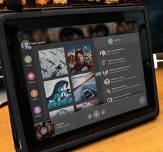 iPad Music App UI - Darkshines by Ismail MESBAH, via Behance