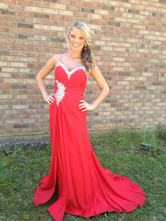 @jen breyer44 prom dress red