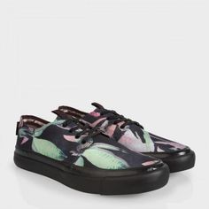 Paul Smith Men's Shoes - Botanical Print Nylon-Twill Libre Trainers