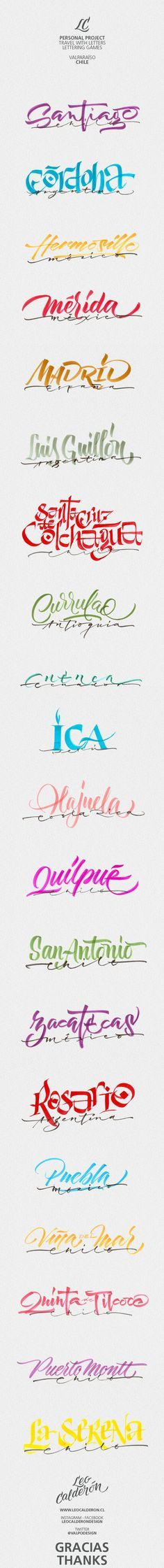 Viajar con Letras // Travel with letters on Behance
