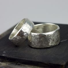 Wide Band Ring Wide Silver Ring WIDE Band Silver by thebeadgirl