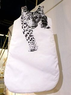 Fabulous baby sleep bag with snow leopard print from Anatology at Playtime Paris