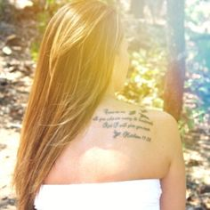 """Lost my baby brother 3 years ago to suicide. This is for him! """"Come to me all you who are weary and burdened and I will give you rest. Matthew 11:28 R.I.P. Matthew H. Eakle Shoulder Ink ❤Scripture  Bird tattoo #Ink #memory tattoo"""