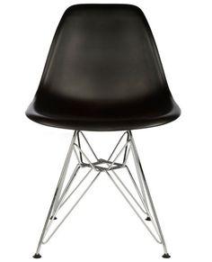 Eames DSR Side Chair chrome leg – BLACK
