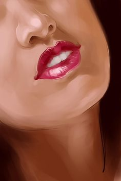 Lips - Painting by Sumit Roy at touchtalent 24853