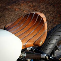 Wood motorcycle seat