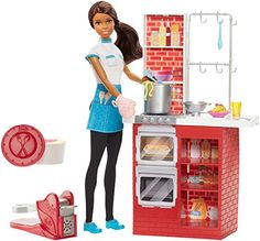 With the Barbie Spaghetti Chef play set you can cook up a pasta feast! Young chefs can explore restaurant ownership and culinary careers with Barbie doll while cooking up a spaghetti and meatball din...