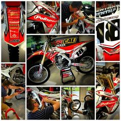 Project 365. 6-23-13. Finished up the CRF ReVamp in the showroom. Working on designs and acing it out for Visitors this week. #365 #decalworks #decalmx #crf #Padgram