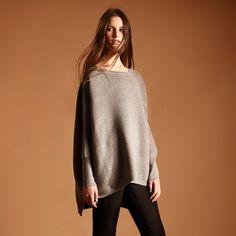 Oversized jumper in grey