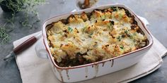 Beef steak, thyme and onion pie with celeriac mash. Georgina Fuggle serves up a luxurious beef, onion and thyme cottage pie recipe, topped with celeriac mash for the perfect comfort food dish.