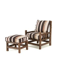 Rustic Club Chair #1261 & Ottoman #1263 (shown in Natural Finish on Bark)