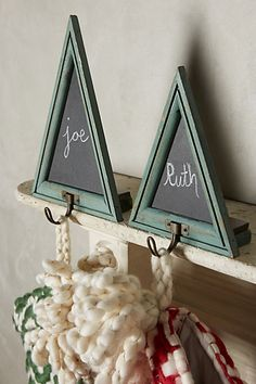 Chalkboard Tree Stocking Holders - anthropologie.com