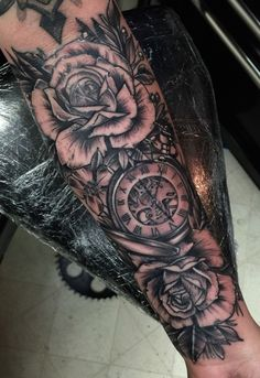 FYeahTattoos.com — 13 hour pocket watch. Done by Austin Smith - IG:...