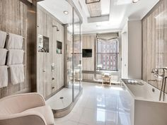 740 Park Avenue , New York NY Cooperative - This is one of the two (2) master bathrooms (this is HIS).