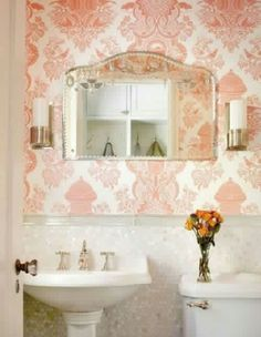 Chic wallpaper for bathroom