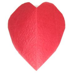 Learn to make and origami heart easily. Nice place to learn unique origami models using paper. 3d Origami Heart, Origami Models, Origami Instructions, Origami Paper, Learning, Unique, Studying, Origami Tutorial, Teaching