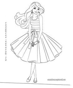 barbie coloring pages for girls free printable  barbie