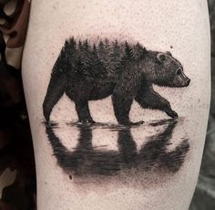 #bear #tattoo Ascent studio, Whistler.