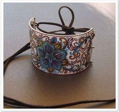 Plástico #6 - Criando Bijuterias e Reciclando  Bracelete de plástico feito pela artesã australiana revampbyjacy.